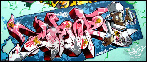 Сайт посвящённый луганскому граффити